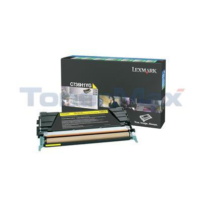 LEXMARK C736DN TONER CARTRIDGE YELLOW RP 10K